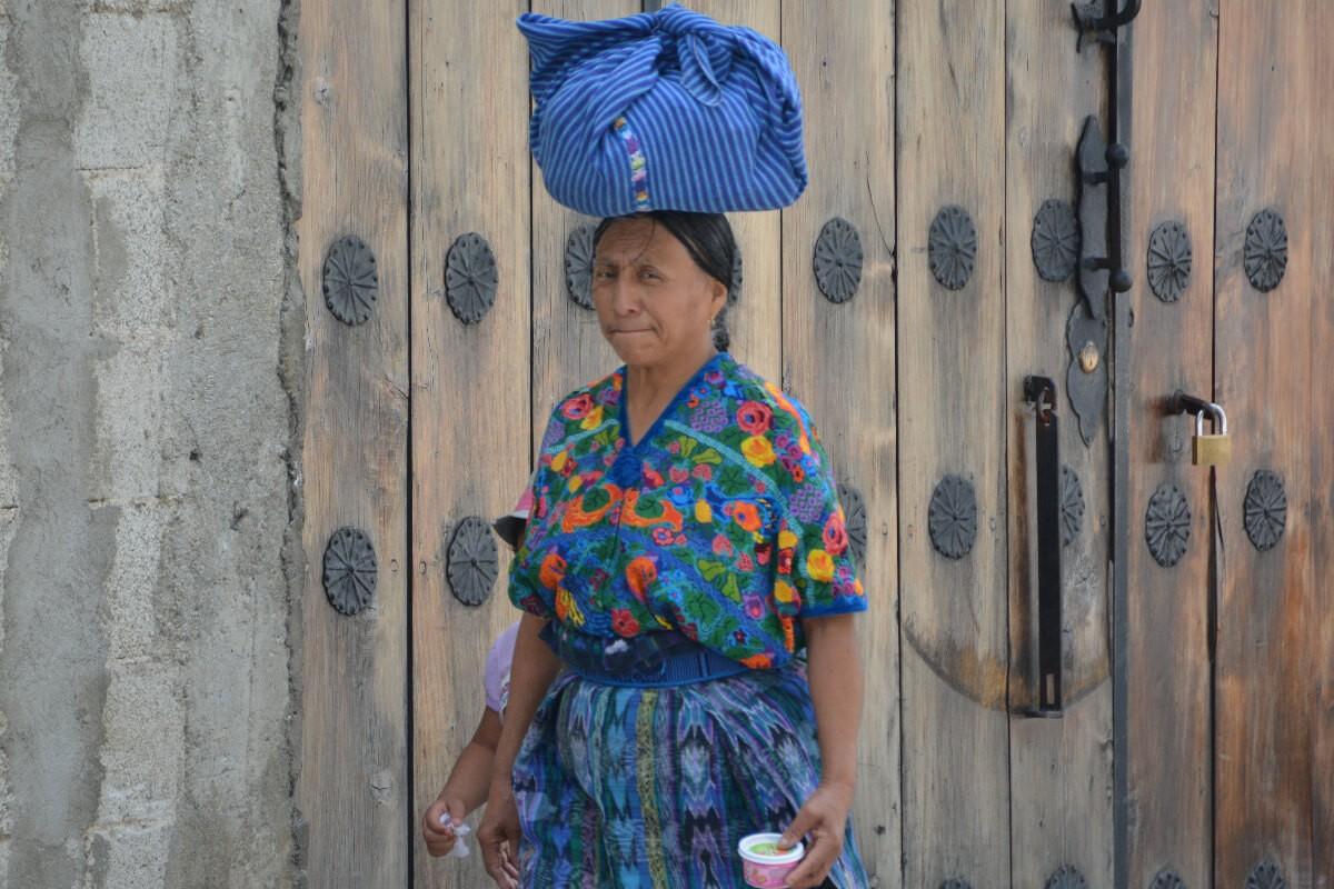 woman in antigua