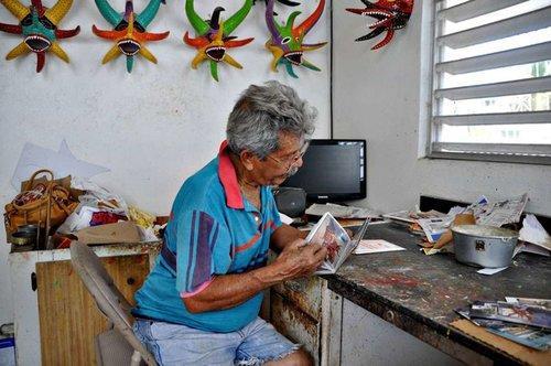 Miguel Caraballo Vejigante Mask Artisan